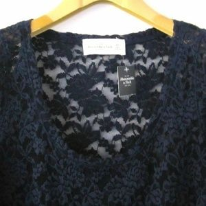 Abercrombie & Fitch Tops - NWT ABERCROMBIE & FITCH A&F LACE TOP BLOUSE_XS